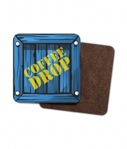 Fortnite Coffee Supply Drop Crate Single Hardboard Coaster